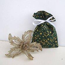 Úžitkový textil - Vianočné darčekové vrecúško - 8833217_