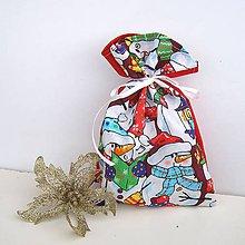 Úžitkový textil - Vianočné darčekové , Mikulášske vrecúško - 8833272_