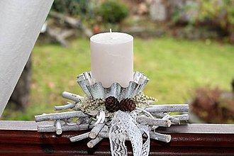Dekorácie - Vianočný svietnik - 8830302_