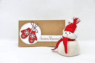 Papiernictvo - Vianočný pozdrav - Rukavičky III. - 8831037_