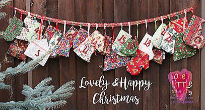 Textil - Adventný kalendár- čižmičky, domčeky, rukavičky... - 8833901_