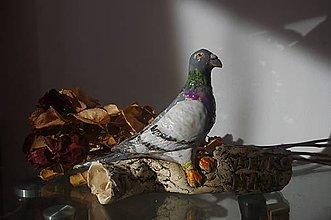 Socha - poštový holub-ceruzník - 8833344_