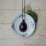 Náhrdelníky - Achátový n.6 šitý náhrdelník - 8833418_