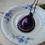 Náhrdelníky - Achátový n.6 šitý náhrdelník - 8833419_