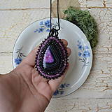 Náhrdelníky - Achátový n.6 šitý náhrdelník - 8833420_