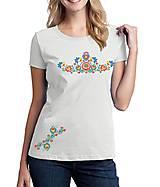 Tričká - Tričko dámske farebné folk kvety 03 - 8832179_