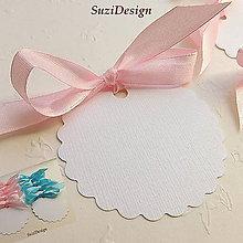Papier - emboss visačky, menovky, štítky 2 farby / 10ks - 8829078_