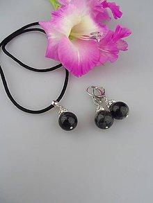 Sady šperkov - Turmalín náušnice a prívesok v striebre - 8829790_