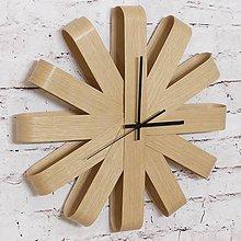 Hodiny - Drevené nástenné hodiny dub