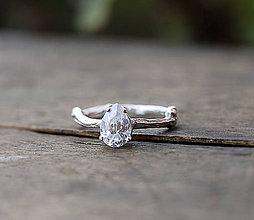 Prstene - ZAKÁZKA Vetvičkový prsteň zlatý s olivínom - 8828711_