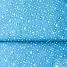 Textil - tyrkysové úsečky; 100 % bavlna Francúzsko, šírka 160 cm - 8830313_