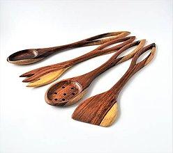 Pomôcky - Zľava! Sada 4 drevených varešiek do kuchyne - 8833986_
