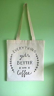 Nákupné tašky - plátená taška _ pre kávičkárov - 8832087_