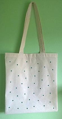 Nákupné tašky - plátená taška _ bodkovaná :) - 8832123_