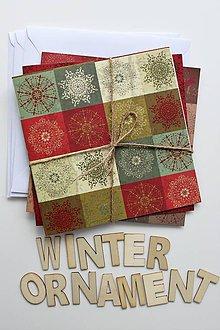 Papier - Sada vianočných pohľadníc - 8831260_