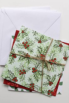 Papier - Sada vianočných pohľadníc - 8831318_