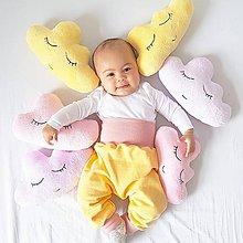 Textil - vankúšiky mini obláčiky Žltá, Ružová, Fialová (Fialová) - 8833570_