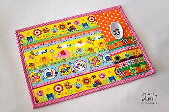 Textil - Detské prestieranie s vreckom na príbor Sloníky a motýliky - 8833374_