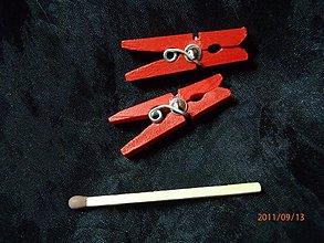 Náušnice - Malé štipčeky (Oranžová) - 8830865_