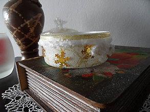 Svietidlá a sviečky - svietničky (Zlatá) - 8833496_