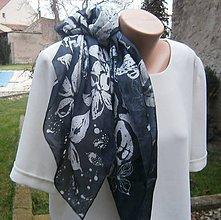 Šatky - Černobílá elegance. 90 x 90 cm - 8829241_