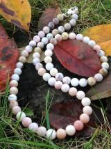 Sady šperkov - Ružový andský opál - sada šperkov - 8833555_