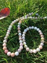 Sady šperkov - Ružový andský opál - sada šperkov - 8833623_