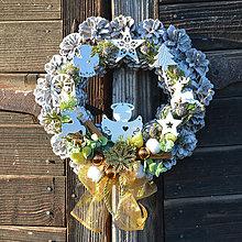 Dekorácie - Vianočný veniec na dvere s anjelom - 8834025_