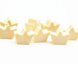 Korálky - Korálka drevená KORUNKA 1,7 x 0,7 cm - 8831031_