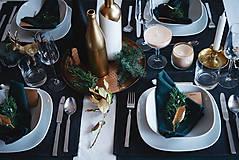 Úžitkový textil - Vianočné prestieranie - séria /tmavozelená/ - 8834283_