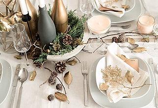 Úžitkový textil - Vianočné prestieranie - séria /béžová/ - 8833392_