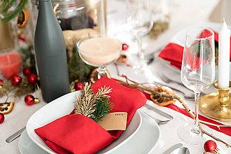 Úžitkový textil - Vianočné prestieranie - séria /sýto červená/ - 8834473_