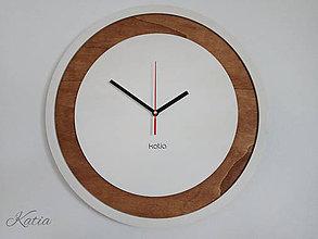 Hodiny - Nástenné drevené hodiny Circle - 8829094_