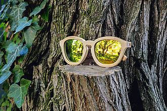 Iné doplnky - Dámske drevené slnečné okuliare s dreveným púzdrom s vlastným menom - 8828813_
