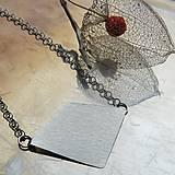Náhrdelníky - Trojuholník, štvoruholník - 8834151_