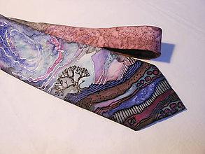 Doplnky - Maľovaná kravata - Strom - 8829604_