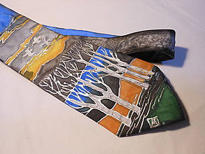Doplnky - Maľovaná kravata - Rieka - 8829757_