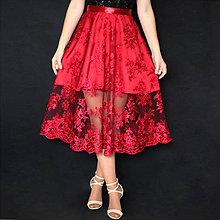 Sukne - Spoločenská sukňa z tylovej krajky rôzne farby - 8831026_
