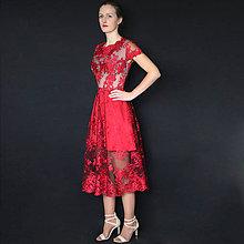 Šaty - Spoločenské šaty z tylovej krajky rôzne farby - 8831307_