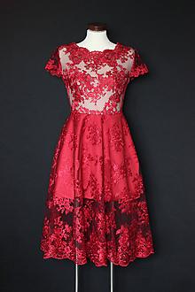 Šaty - Spoločenské šaty z tylovej krajky rôzne farby - 8831310_