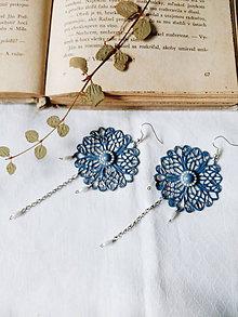 Náušnice - Elegant blue - 8831391_