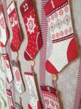 Úžitkový textil - Adventny kalendar - vidiecky - 8833045_