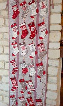 Úžitkový textil - Adventny kalendar - vidiecky - 8833043_