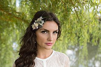 Ozdoby do vlasov - výpredaj z 25 eur Kvetinový hrebienok