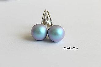 Náušnice - Náušnice Swarovski Pearls Iridescent Light Blue - 8832076_