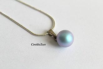 Náhrdelníky - Prívesok Swarovski PearIs Iridescent Light Blue - 8832081_