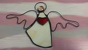 Obrázky - Anjelik so srdiečkom - 8830383_