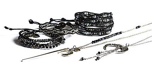 Sady šperkov - Sada dámskych šperkov v modro-čiernych tónoch - 8833276_