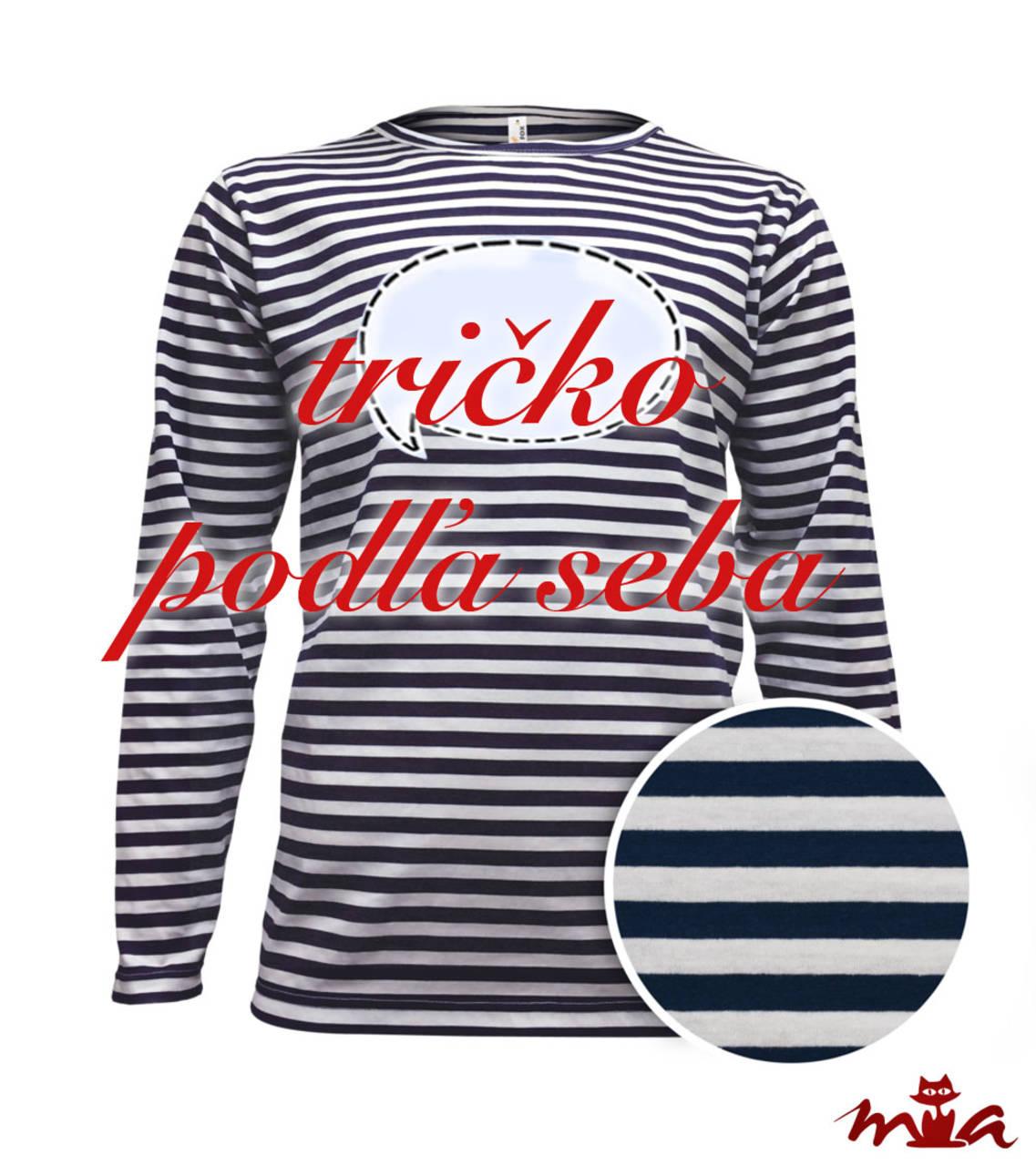 b85334a248bb Pánske dlhorukávové tričko s vlastným nápisom   miriammiklasova ...