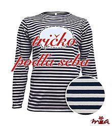 Oblečenie - Pánske dlhorukávové tričko s vlastným nápisom - 8830340_